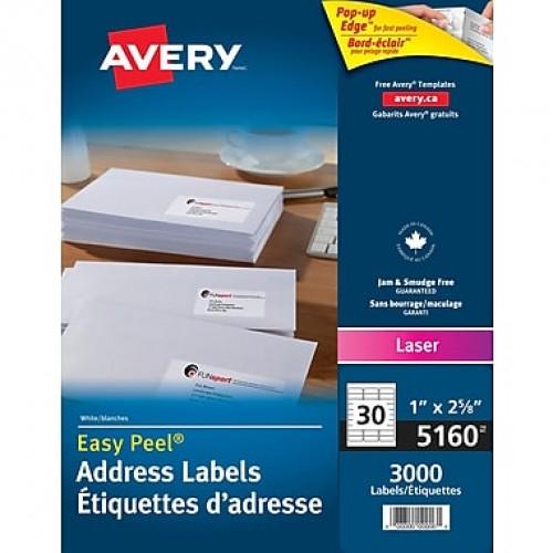 Avery 5160 Étiquettes d'adresse