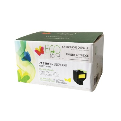 Lexmark CS / CX317 / 417 / 517 recyclé Jaune 2.3K