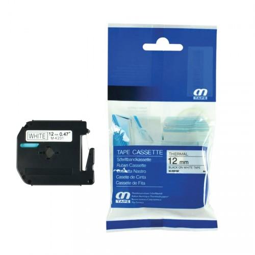 Ruban compatible P-Touch Brother M-K231 (12 mm, 0.47'') noir sur blanc