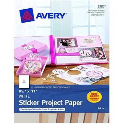 Avery® Papier Autocollant 3383