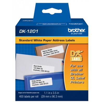 """Étiquettes papier standard DK-1201 (1-1/7"""" x 3-1/2"""")"""