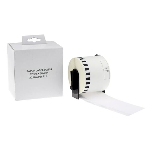 Brother Ruban compatible de papier en continu DK-2205