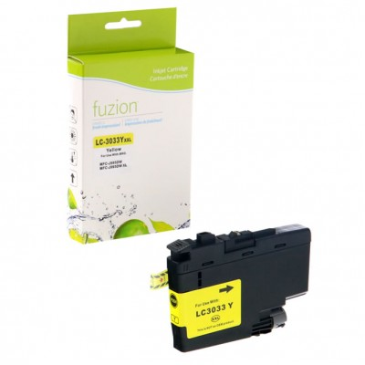 Brother LC-3033 jaune compatible Fuzion