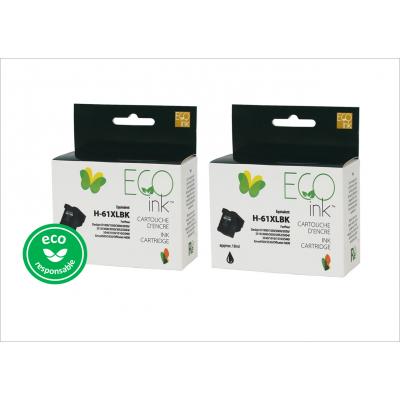 Duopack HP 61XL Noir recyclé