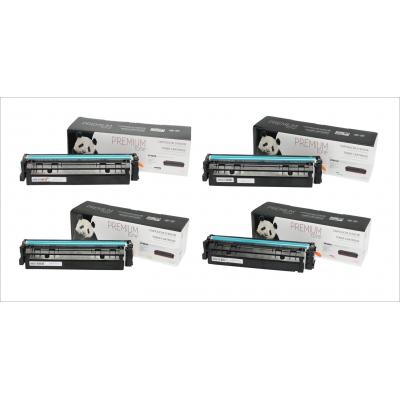 Multipack HP 202X (CF500X-CF501X-CF502X-CF503X) compatible Premium Tone