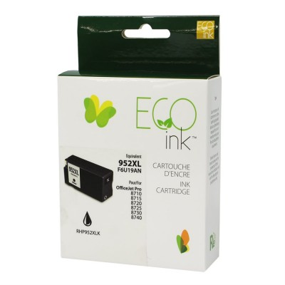 HP No.952XL F6U19AN Reman Noir EcoInk 2K