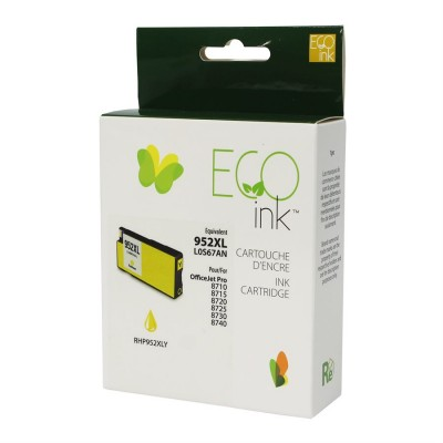 HP No.952XL L0S67AN Reman Jaune EcoInk 1.6K