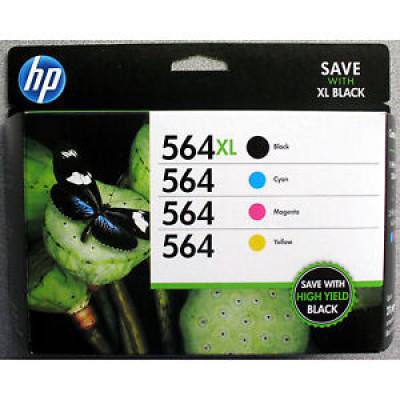 HP 564XL Noire/ 3 couleurs standard Paquet combiné