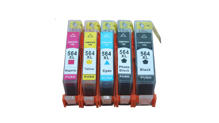 HP 564XL multi-pack compatible (5 cartouches)