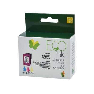 HP 64XL couleur recyclé EcoInk