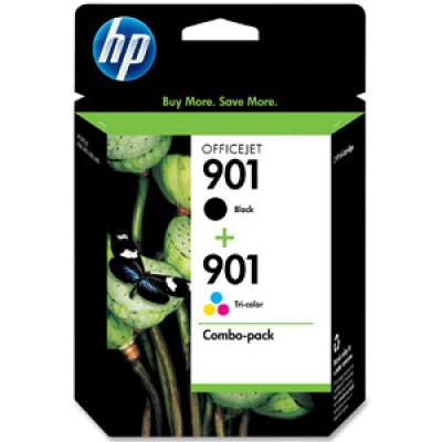 HP 901 Combo Pack (Noir/couleur) Originale