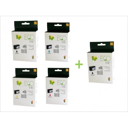 Ensemble de 5 cartouches HP 950XL & 951XL recyclé
